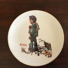 Norman Rockwell Plate~End Of Christmas
