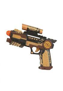 Mens Brown Pirate Shoulder Gun Holster /& 3Toy Guns Fancy Dress Costume Accessory