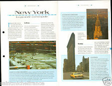 New York City Central Park Brooklyn Ground Zero Memorial Chrysler  FICHE FRANCE