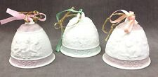 Lladro Christmas Holiday Ornament Porcelain Bells Assortment of 3