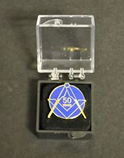 Masonic Craft 50 year lapel pin in presentation box (LP083)