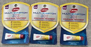 (3) Carmex Multi-Symptons 3 In 1 Cold Sore Treatment. exp 7/2022