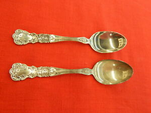"""2 Gorham Buttercup sterling silver Tea Spoons 5-7/8"""""""