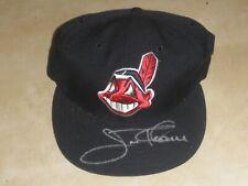 2001 Fleer Legacy Indians Autograph Auto Cap Hat Jim Thome HOF