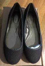 NEW IN BOX Lands End Brown Emma Ballet Flats Flannel Shoes Size 6.5