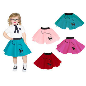 Hip Hop 50s Shop Toddler Size Girls Poodle Skirt for Halloween or Dance Costume