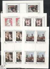 Czechoslovakia Sc 2634-8 NH Minisheets of 1986 - Art