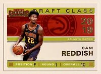2019-20 Contenders CAM REDDISH Draft Class Rookie, #10, SP, RC, ATL Hawks, Duke