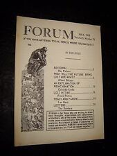 Ray Palmer's forum NEWSLETTER July 1970 FLYING SAUCERS UFO'S Paranormal Occult
