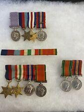 WWII BRITISH MINIATURE MEDALS