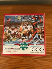 Charles Wysocki 1000 Piece Puzzle Small Town Christmas NEW