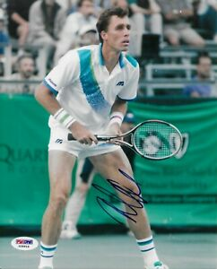 Ivan Lendl Signed 8x10 Photo Autographed PSA/DNA COA Tennis Great Wimbeldon 16