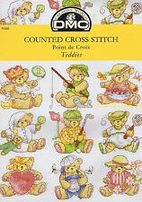 Teddies Teddy Bears Cross Stitch Chart DMC P5088 9 Designs