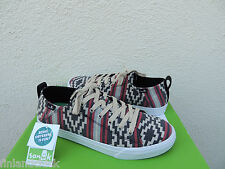 SANUK BLACK/ RED STAPLE FUNK SNEAKER LACE-UP BOAT SHOES, US 9.5/ EUR 42.5 ~NIB