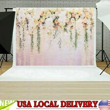 3D White Rose Floral Photo Backdrops Bridal Shower Wedding Flowers Wall Decor