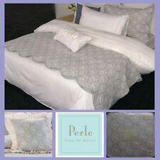 Fabienne Blue Coverlet Set + Square Cushion by Perle Linge De Maison | Queen