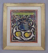 Victor LAKS (1924-2011) nature morte Rio 1949 huile sur papier