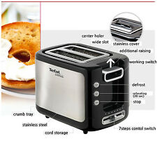 [Tefal] Toaster 2 Slice Wide Slot Defrost Re-Heating Crumb Tray (TT3670KR)