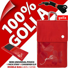Golla rot Handy Case Etui Tasche für iPhone 4S 5 5S SE Samsung Galaxy S2, S3 Mini