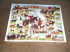 """White Mountain Puzzles 1000 PC Large """"The World of Horses"""" Puzzle Made in U.S.A"""