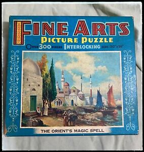 Vintage Fine Arts Puzzle The Orient's Magic Spell   300 Pieces Complete