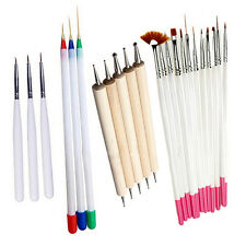 23Pcs Nail Art Polish Painting Pens Brush Tips Set UV Gel Nail Brushes Striking