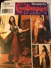 Simplicity Pattern 5359 Misses Gypsy Belly Dancer Costume SZ 6-12
