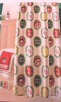 Christmas Merry Mistletoe Sentiments Fabric Shower Curtain Holiday Bath Decor