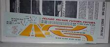 Decalcomania di traiettoria di volo fp20-167 BOEING 737-400 Pegaso/Futura in scala 1:200