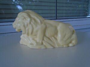 VINTAGE MCCOY YELLOW LION PLANTER