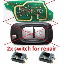 2x Switch bouton pour clé pliante télécommande plip Renault Clio Modus Kangoo