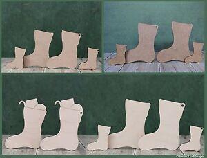 Wooden Christmas stocking craft shapes. Mdf or plywood Xmas decoration blank