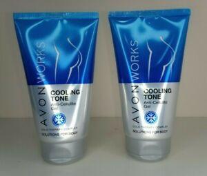 2 x AVON Works Cooling Tone Anti Cellulite Gel