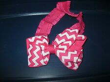 3-6 Month Infant Baby Head Band - Pink / Pink Bow