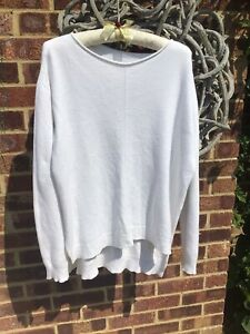 Made In Italy White Jumper Size L