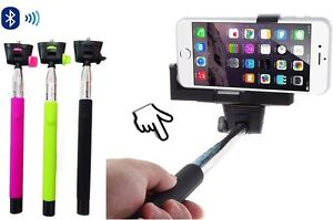 Bluetooth Selfie Stick Remote Extendable Telescopic Monopod Tripod Phone - Green