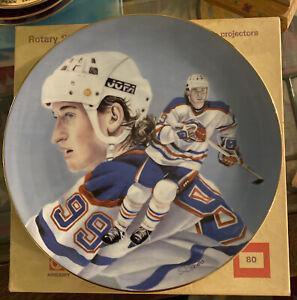 WAYNE GRETZKY Oilers/ Rangers Plate Vintage Royal Manor Porcelain #'d RARE 1984