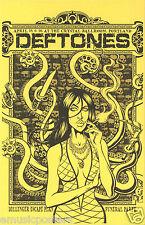 """Deftones """"Dillinger Escape Plan Funeral Party Tour"""" 2011 Portland Concert Poster"""