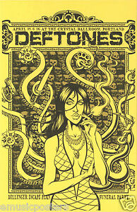 DEFTONES /DILLINGER ESCAPE PLAN /FUNERAL PARTY 2011 PORTLAND CONCERT TOUR POSTER