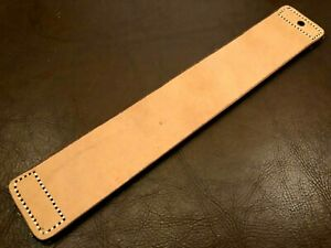 """12"""" Handmade Razor Sharpening Tool-Cowhide Leather Strop-Canvas Side-P15"""