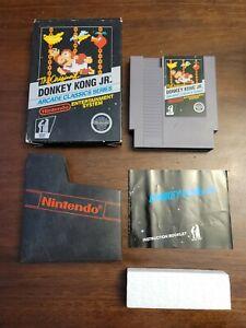 CIB The Original! Donkey Kong Jr Arcade Classic Series (NES) Complete - Tested