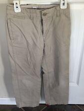 Gap Kids Khakis Pants Boys Size 7 Adjustable Waist Slide Button Uniform Bottoms