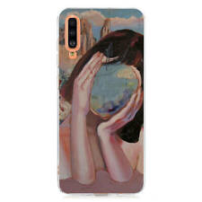 For Samsung A10 A20E A30 A40 A50 A70 Painted Soft Silicone Gel Back Case Cover