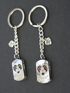 I Love You keyring silver and jewels - 2 variations - Valentines