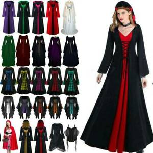 Women's Christmas Costume Retro Style Victorian Gothic Witch Dresses Party Gown