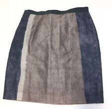 Ann Taylor LOFT Ramie Nylon Casual Straight Skirt Knee Length Womens Sz 8  D20