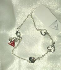 Brand new Guess bracelet hearts and guess charm