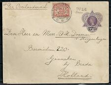 Netherland Indies 1923 uprated cover Cheribon to Ginneken