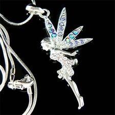 w Swarovski Crystal Fairy Tinker Bell ~PURPLE Tinkerbell~ ANGEL Pendant Necklace