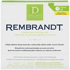 Rembrandt Deeply White 2-Hour Whitening Kit Brand New Sealed Expires 05/17